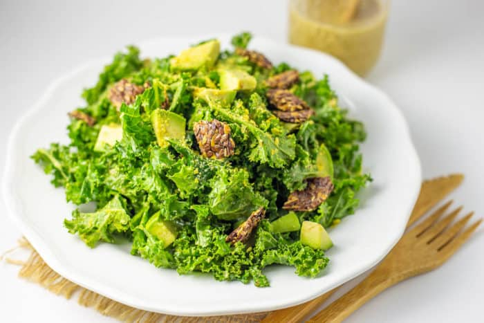 Vegan Keto Caesar Salad