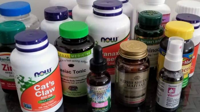 Lots and lots of cancer-fighting, immune-boosting supplements