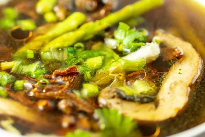 Mushroom Asparagus Raw Vegan Keto Soup