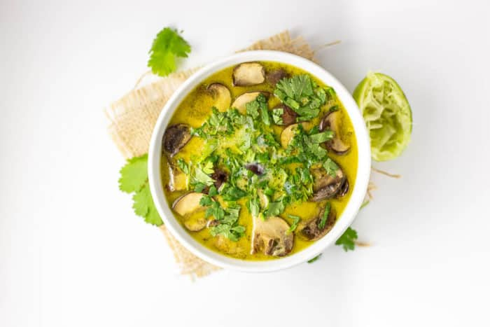 Curried Cauliflower and Mushroom Soup