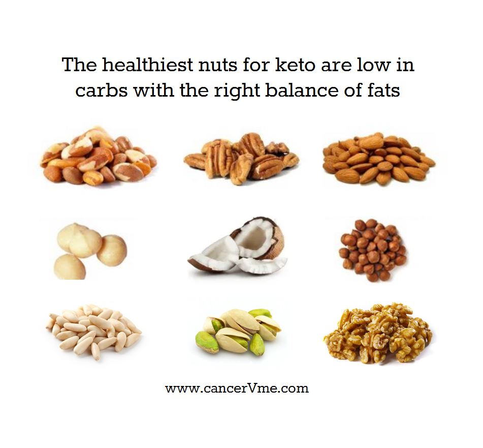 The healthiest nuts for ket are low in carbs with the right balance of fats.